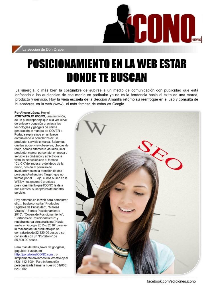 05 24 2016 DRAPER POSICIONAMIENTO EN LA WEB